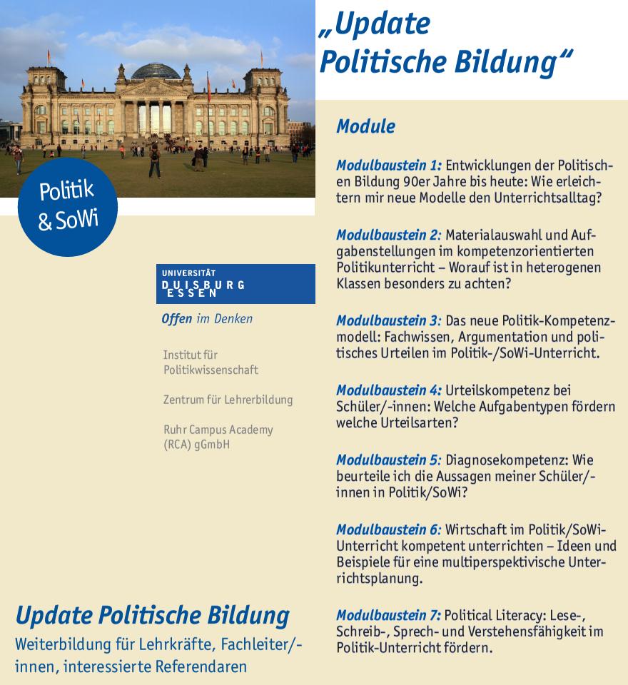 Update Politische Bildung