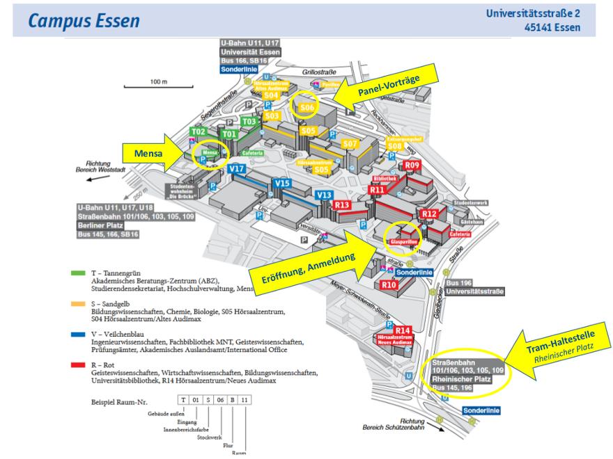 Campus Essen Lageplan